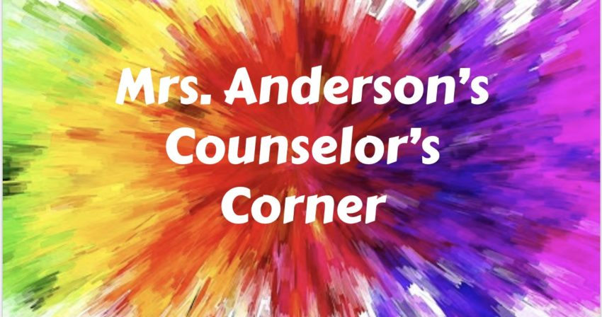 "Splashes of color with ""Mrs. Anderson's Counselor's Corner"""